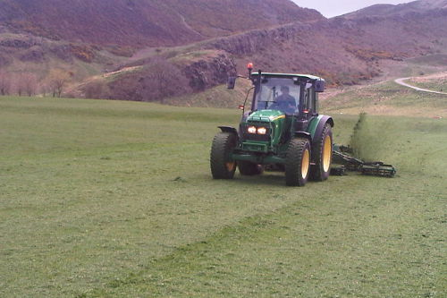 Tractor Holyrood Park